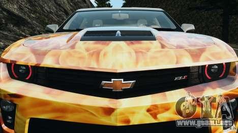 Chevrolet Camaro ZL1 2012 v1.0 Flames para GTA 4