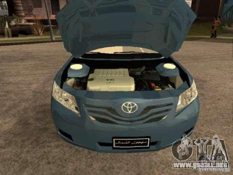 Toyota Camry 2009 para la visión correcta GTA San Andreas