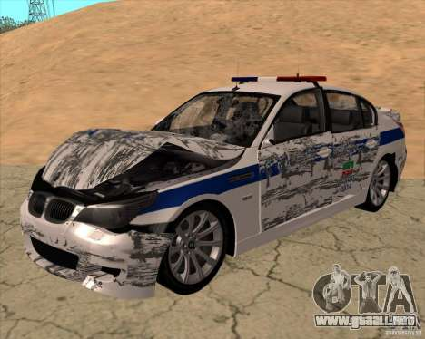 BMW M5 E60 DPS para vista lateral GTA San Andreas