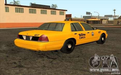 Ford Crown Victoria Taxi 2003 para la visión correcta GTA San Andreas
