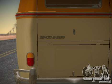 Volkswagen Type 2 Custom para vista lateral GTA San Andreas