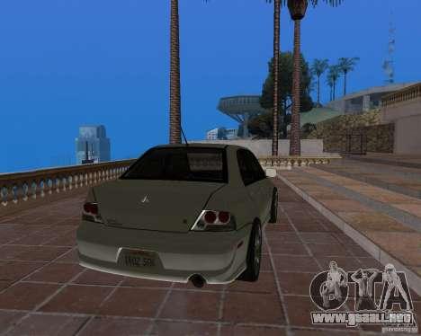 Mitsubishi Lancer Evolution VIII para GTA San Andreas left