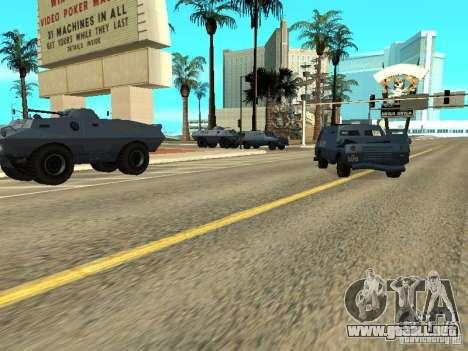 SWAT y el FBI carro pasear por las calles de para GTA San Andreas tercera pantalla