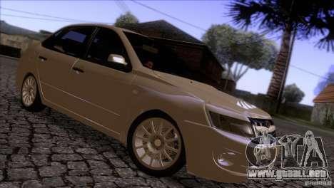 VAZ 2190 Granta para GTA San Andreas vista hacia atrás