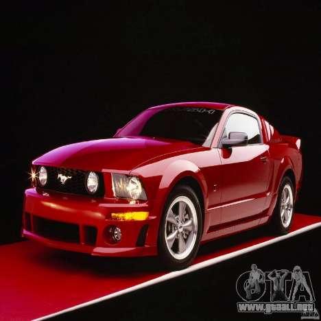 Pantallas de carga en el estilo del Ford Mustang para GTA San Andreas décimo de pantalla