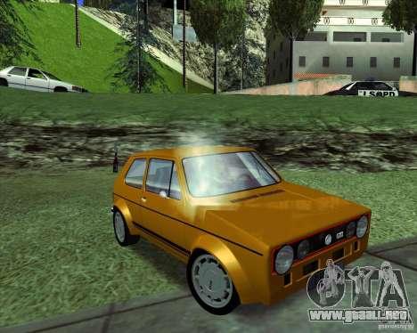 Volkswagen Golf MK 1 GTI para la visión correcta GTA San Andreas