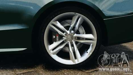 Audi S5 para GTA 4 vista desde abajo