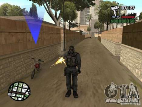 Mercenario acosador de máscara para GTA San Andreas segunda pantalla