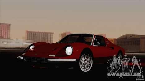 Ferrari 246 Dino GTS para GTA San Andreas vista posterior izquierda