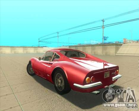 Ferrari Dino 246 GT para GTA San Andreas left