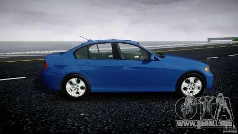BMW 3-Series Unmarked [ELS] para GTA 4 vista hacia atrás
