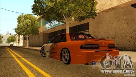 Nissan Silvia S13 MyGame Drift Team para GTA San Andreas vista hacia atrás