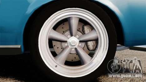Ford Mustang Customs 1967 para GTA 4 vista hacia atrás