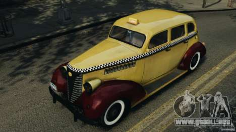 Shubert Taxi para GTA 4 vista interior