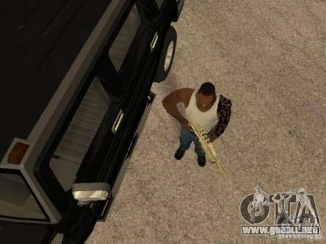 Sistema de alarma para coches para GTA San Andreas segunda pantalla