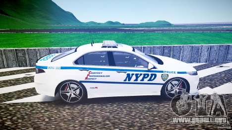 Honda Accord Type R NYPD (City Patrol 2322) ELS para GTA 4 left