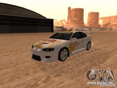 Vauxhall Monaro para GTA San Andreas interior
