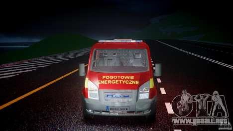 Ford Transit Polski uslugi elektryczne [ELS] para GTA 4 vista superior