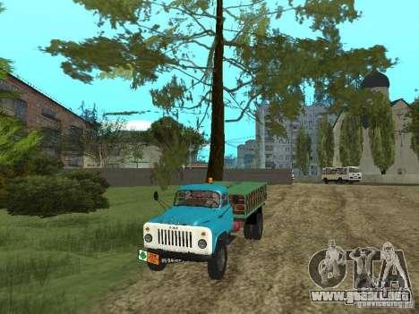 GAZ-53 ballonovoz para GTA San Andreas vista hacia atrás