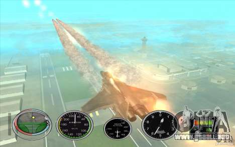 Lanzamiento del cohete rápido a Hydra y Hunter para GTA San Andreas sucesivamente de pantalla