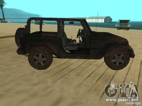 Jeep Wrangler SE para GTA San Andreas left