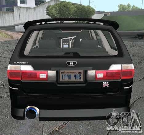 Nissan Stagea para GTA San Andreas vista posterior izquierda