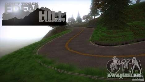 Edem Hill Drift Track para GTA San Andreas tercera pantalla