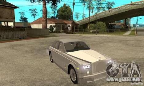 Rolls Royce Coupe 2009 para GTA San Andreas vista hacia atrás