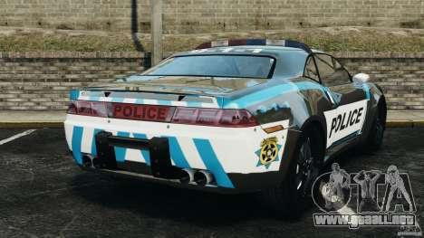 NFSOL State Police Car [ELS] para GTA 4 Vista posterior izquierda