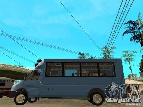 Ruta de gacela para GTA San Andreas left