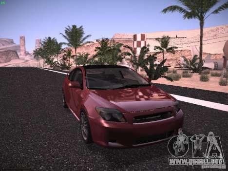 Scion tC para GTA San Andreas vista posterior izquierda