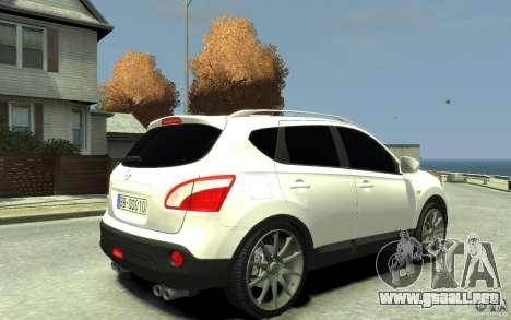 Nissan Qashqai 2010 para GTA 4 visión correcta