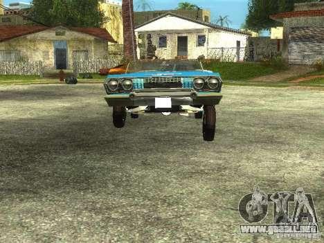 Chevrolet Impala 1964 (Lowrider) para la visión correcta GTA San Andreas