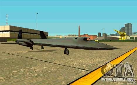 SR-71A BLACKBIRD BETA para la visión correcta GTA San Andreas