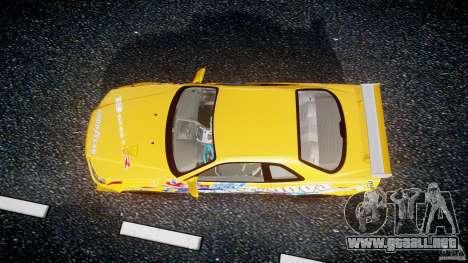 Nissan Skyline R34 GT-R Tezuka Goodyear D1 Drift para GTA 4 visión correcta