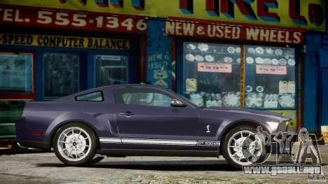 Shelby GT500KR 2008 para GTA 4 left
