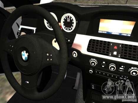 BMW M5 para GTA 4 vista superior