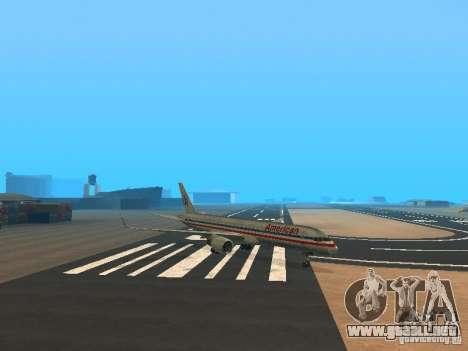 Boeing 757-200 American Airlines para GTA San Andreas left