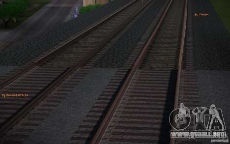 Rieles HD v 2.0 Final para GTA San Andreas segunda pantalla