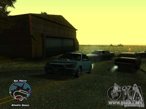 Subaru Impreza Wagon 2004 - 2002 para GTA San Andreas vista posterior izquierda