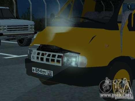 Taxi gacela para GTA San Andreas vista hacia atrás