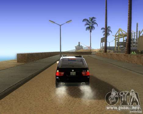 BMW X5 4.8 IS para la visión correcta GTA San Andreas
