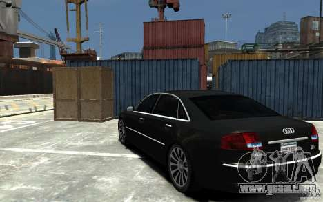 Audi A8L W12 Quattro para GTA 4 Vista posterior izquierda