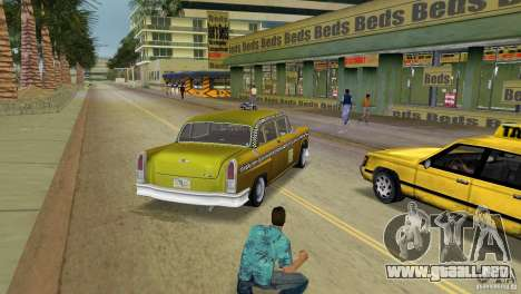 Cabbie HD para GTA Vice City vista lateral izquierdo