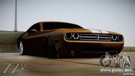 Dodge Challenger Socado Com Rotiform FIXA para GTA San Andreas vista posterior izquierda