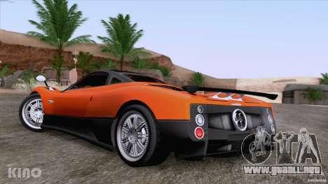 Pagani Zonda F para vista inferior GTA San Andreas