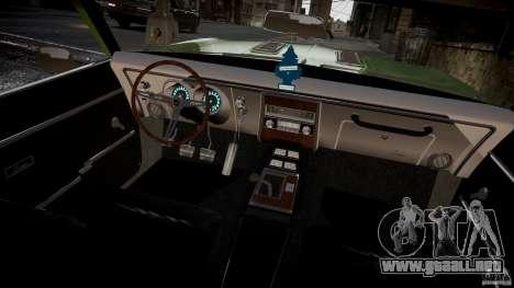 Chevrolet Camaro RS/SS 396 1968 para GTA 4 vista hacia atrás