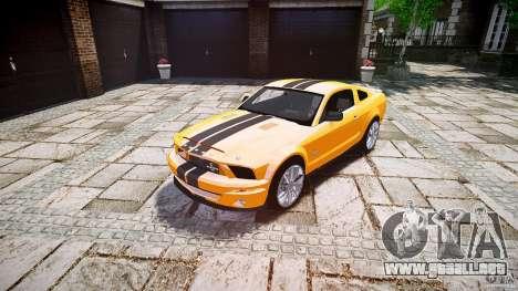 Shelby GT 500 KR 2008 K.I.T.T. para GTA 4