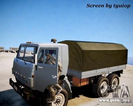 Modern Warfare 2 Soap para GTA 4 adelante de pantalla