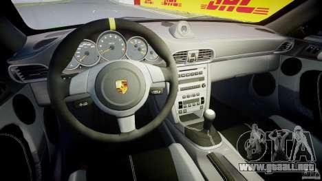 Porsche 997 GT3 RS para GTA 4 vista hacia atrás